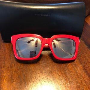 Saint Laurent cherry red sunglasses